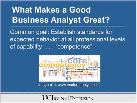 What Makes a Good Business Analyst Great? (12/7/2011)