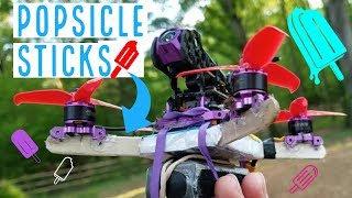CAN'T BELIEVE HOW GOOD THIS FLIES! - Popsicle-stick Frame for Micro Brushless Quad