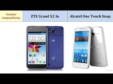 ZTE Grand X2 In VS Alcatel One Touch Snap, features compared
