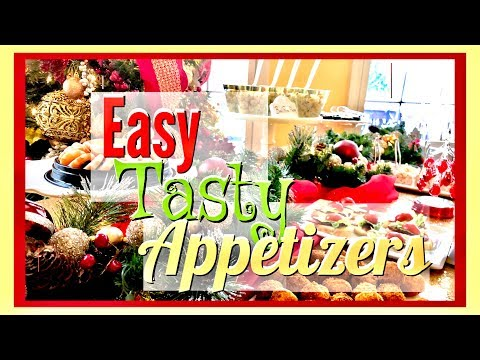 Christmas Holiday Appetizer Buffet Table