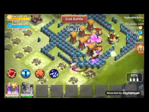 Castle Clash: Skull Knight With Self Destruct Crests Set