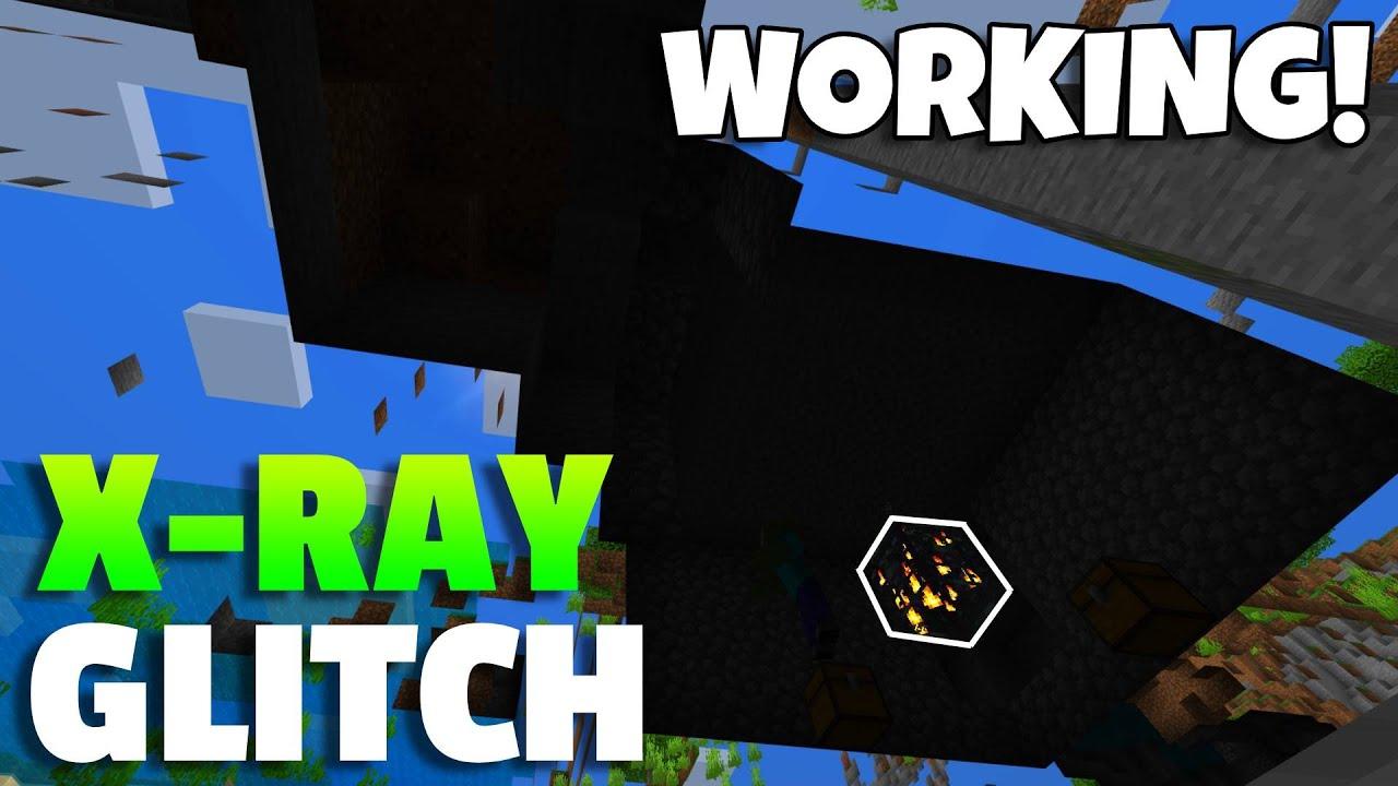 Minecraft X-RAY Glitch (Working x-ray glitch 1111) Bedrock 11.111 X-Ray  glitch (how to find spawners)