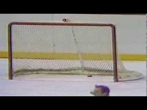 Philadelphia Flyers' goaltender Ron Hextall becomes 1st NHL goaltender to score a goal