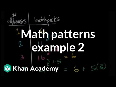Math Patterns Example 2 | Applying Mathematical Reasoning | Pre-Algebra | Khan Academy