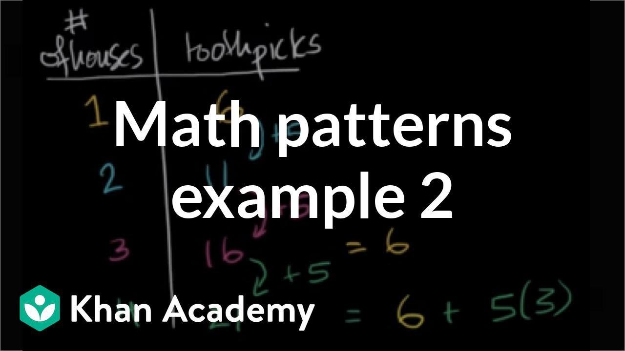 Math patterns: toothpicks (video)   Khan Academy [ 720 x 1280 Pixel ]