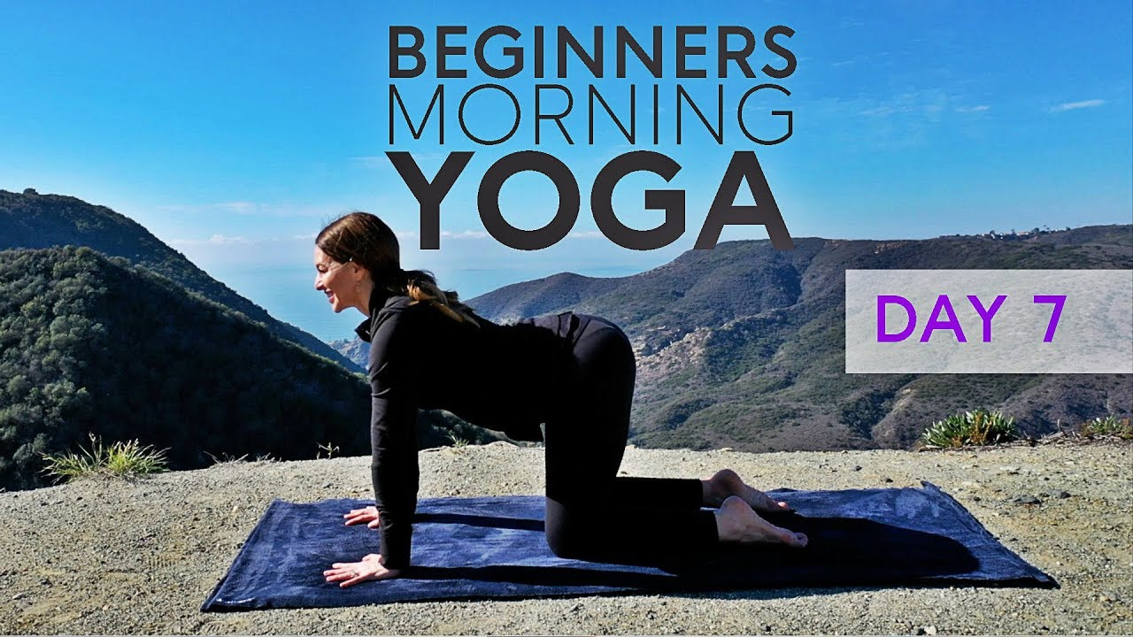 Beginners Yoga (Morning Class) 15 Minute Practice - Day 7 | Fightmaster  Yoga Videos