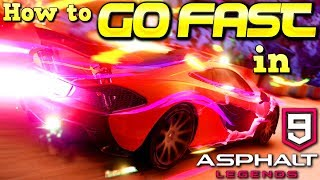 How to GO FAST in ASPHALT 9! Nitro, Ramps, & Drifting tips