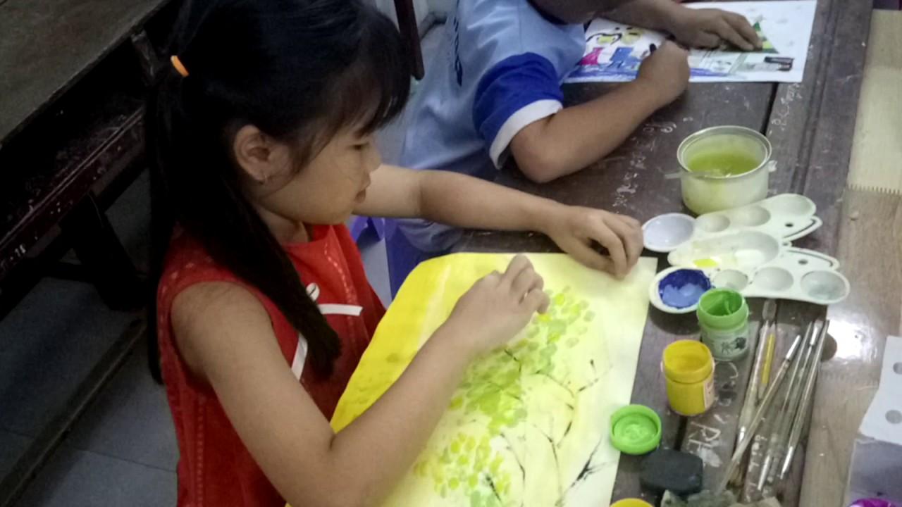 Vẽ cây bằng ngón tay