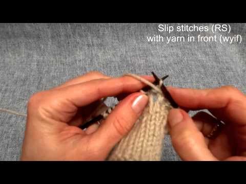Maschen abheben – How to slip stitches – Stricken lernen – Learn how to knit
