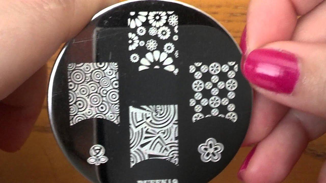 Pueen nail art plates close up youtube pueen nail art plates close up prinsesfo Choice Image