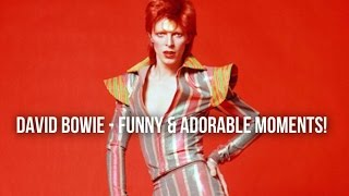 DAVID BOWIE - FUNNY & ADORABLE MOMENTS! PT.1⚡️♡
