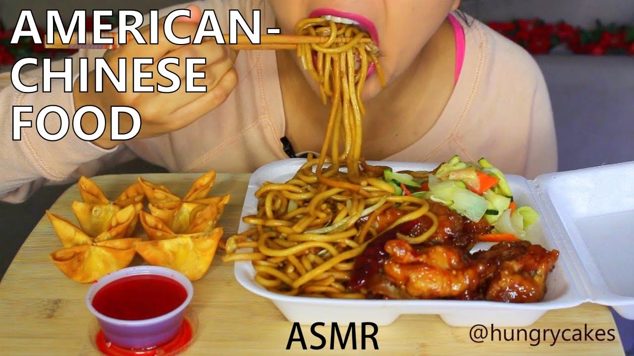 Asmr orange chicken and chowmein american chinese food for American chinese cuisine
