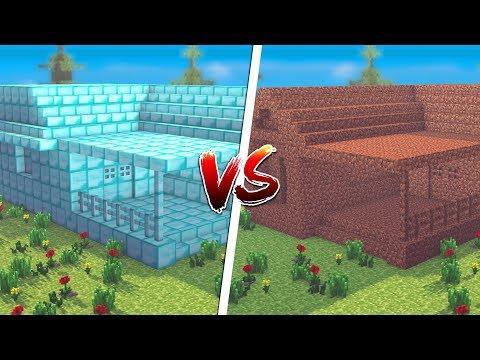 Minecraft: CASA DE DIAMANTE VS. CASA DE TERRA ‹ JUAUM ›