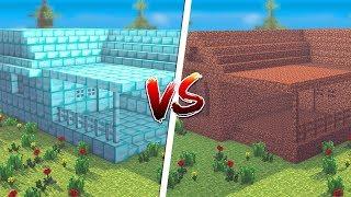 Minecraft: CASA DE DIAMANTE VS. CASA DE TERRA ‹ JUAUM › thumbnail