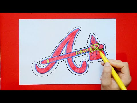 How To Draw The Atlanta Braves (MLB Team)