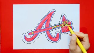 How to draw and color the Atlanta Braves - MLB Team Series