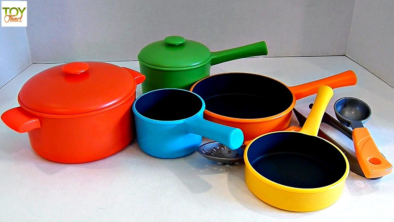 Learn Colors With Pots And Pans Playset Toy Food Just Like Home