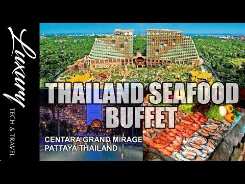 Thailand Seafood Buffet. Centara Grand Mirage Beach Resort Pattaya