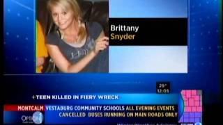1 dies, 1 hurt in fiery Kent Co crash
