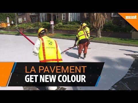 Los Angeles pavements get a new cooler colour