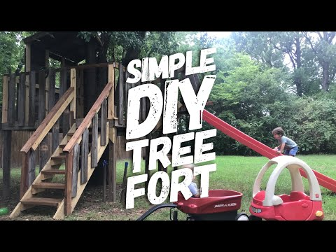 Simple DIY Tree Fort