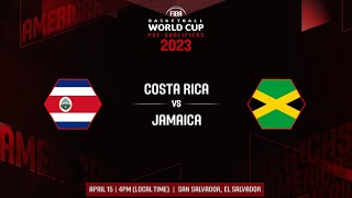 Costa Rica v Jamaica - Full Game   FIBA Basketball World Cup 2023 CONCENCABA Pre Qualifiers