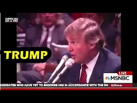 Trump - 1993 - Testifying in front of Native American affairs Committee They Don't look In