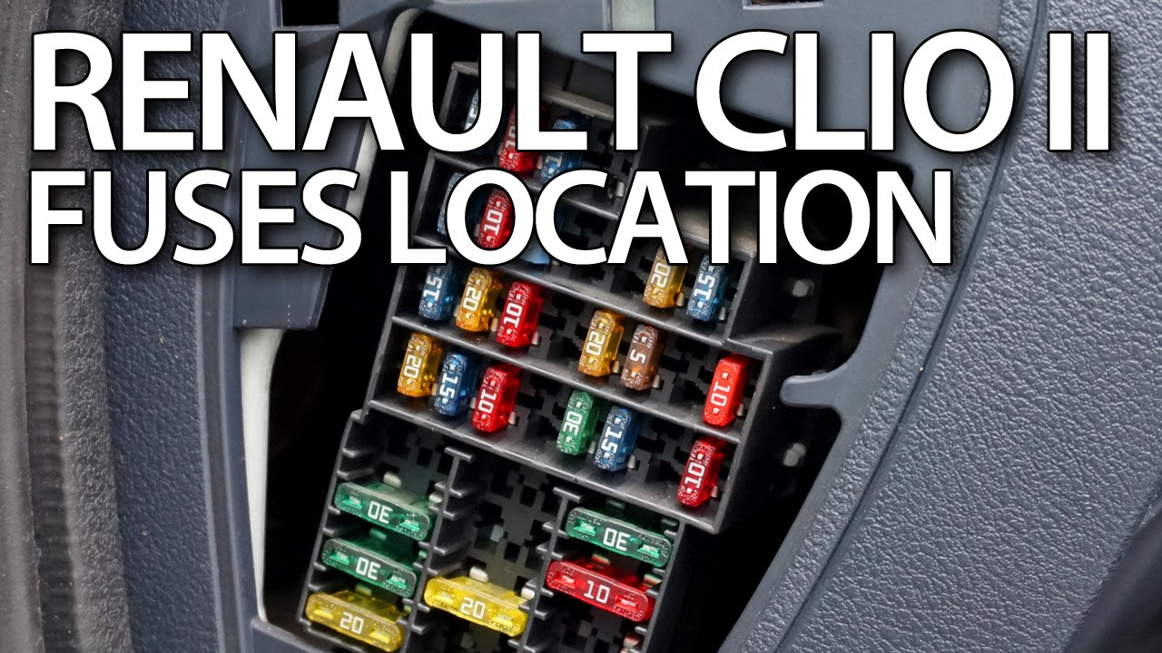 Renault Trafic Ecu Wiring Diagram Magnetek Motor Where Are Fuses And Relays In Clio Ii Thalia Symbol Dacia Logan Youtube