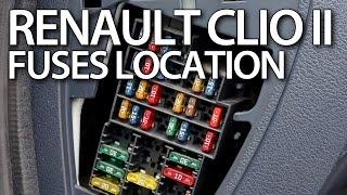 Where are fuses and relays in Renault Clio II / Thalia, Symbol, Dacia Logan