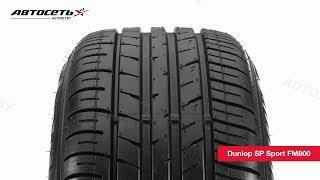 Обзор летней шины Dunlop SP Sport FM800 ● Автосеть ●