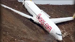 WATCH: Jet Skids off Runway, Stuck on Edge of Cliff