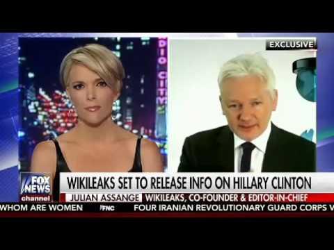 Megyn Kelly Julian Assange Wikileaks Interview Leaking Hillary Clinton Harmful Documents   8 24 16