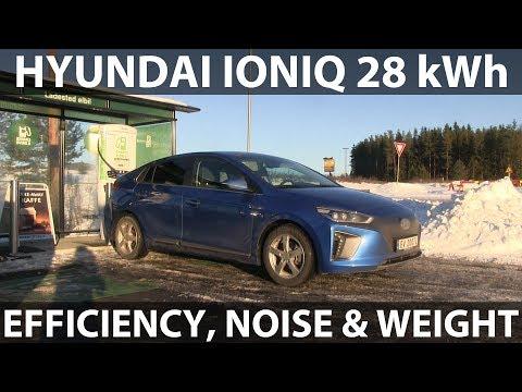 Hyundai Ioniq 110 km/h, 68 mph range test - YouTube