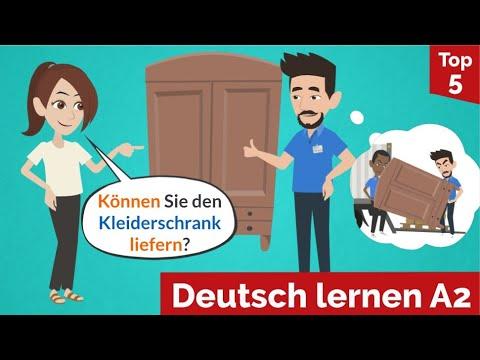 Deutsch Lernen / Können Sie Den Kleiderschrank Liefern? / Wortschatz, Grammatik Und Satzbausteine!