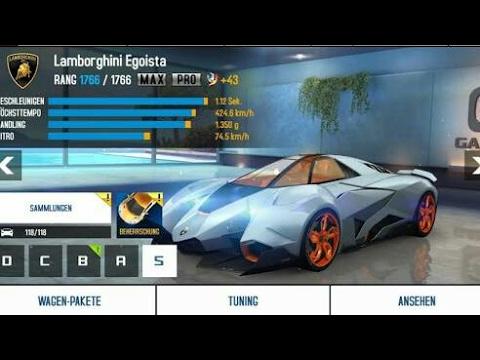 How To Hack Lamborghini Egoista Car In Asphalt 8 Game Help With Game