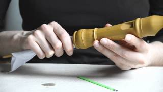 Oiling the Recorder