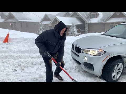 2017 BMW X5 F15 xDrive Stuck During Snow Test in Boone NC Mountains