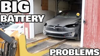 Restoring a Flood Salvage Tesla Model X Part 6: Battery Issues!