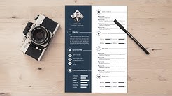 How to Design a Creative Resume | Photoshop Tutorial