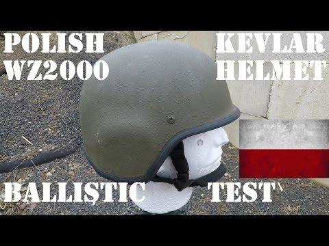 Ballistic Test: Polish Wz2000 Kevlar Helmet Test