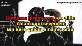 Feride Hilal Akın \u0026 İlyas Yalçıntaş - Şehrin Yolu (Karaoke) Türkçe