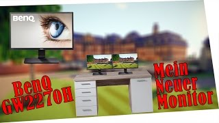 mein neuer monitor   unboxing review   benq gw2270h   justin gaming 1080p 60 fps