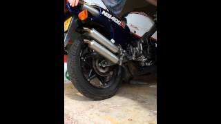 honda ns400r with jolly moto exhaust pipes
