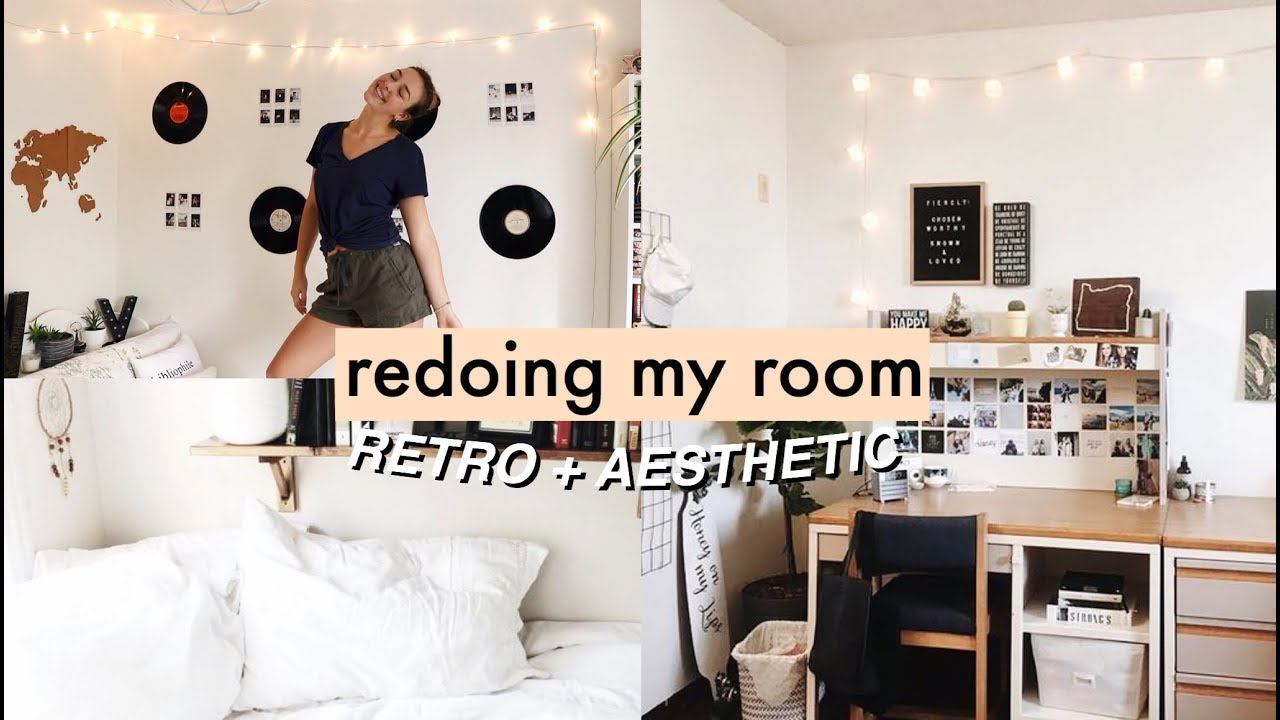 RE-DECORATING MY ROOM 2018! (retro, tumblr + aesthetic ... on Room Decor Aesthetic id=13923