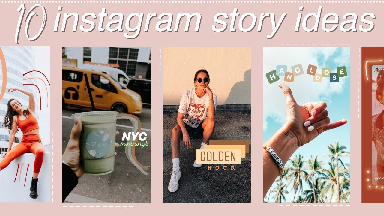 10 More Creative Aesthetic Instagram Story Ideas Using Only The App Youtube