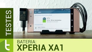 Autonomia do Xperia XA1 | Teste de bateria oficial do Tudocelular