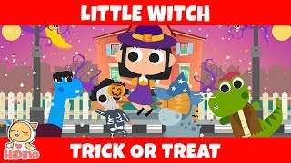 Little Witch | Trick or Treat | HiDino Kids Songs