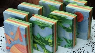 """Earth & Fire"" by Black Cat Blues-Premium Hand Made Art Soap"