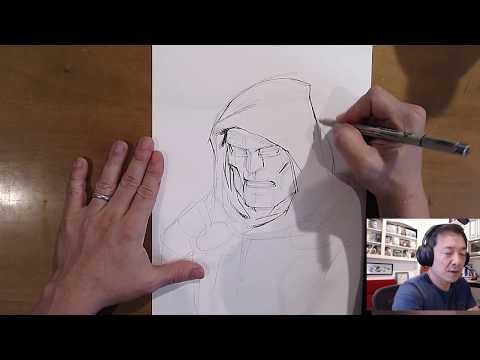 DR DOOM! PUNISHER! DEATHSTROKE! Artstream with Jim Lee