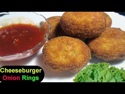 "CHEESEBURGER ONION RINGS ""Cheese Recipe"""